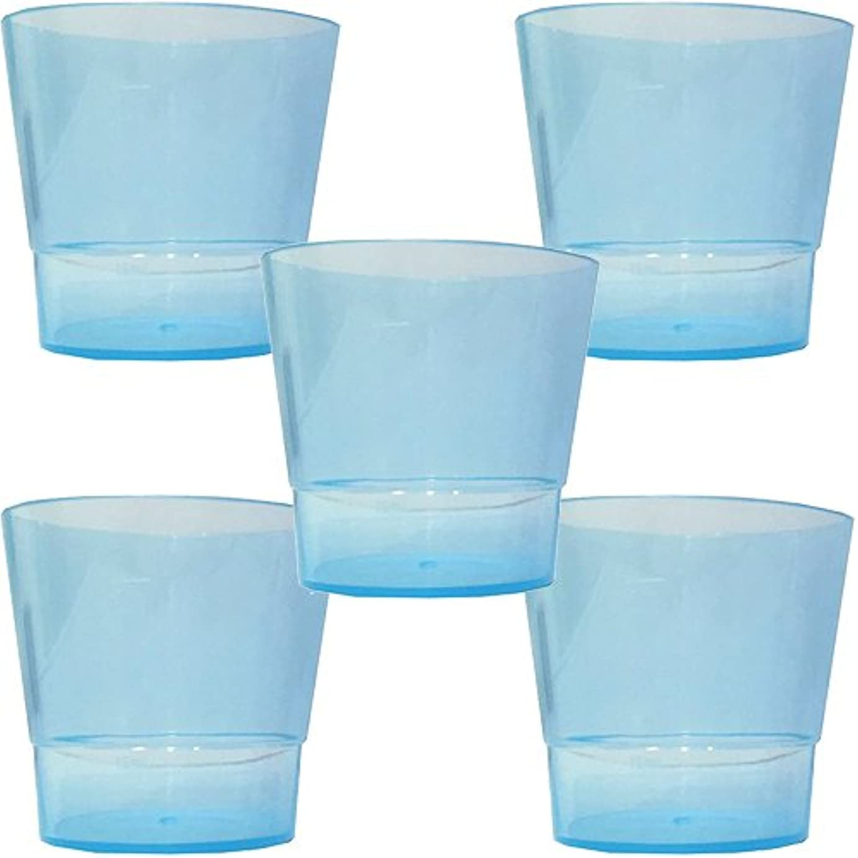 ほのかアクセシブルしおれた洗口コップ (少量洗口専用コップ) (ブルー 5個)