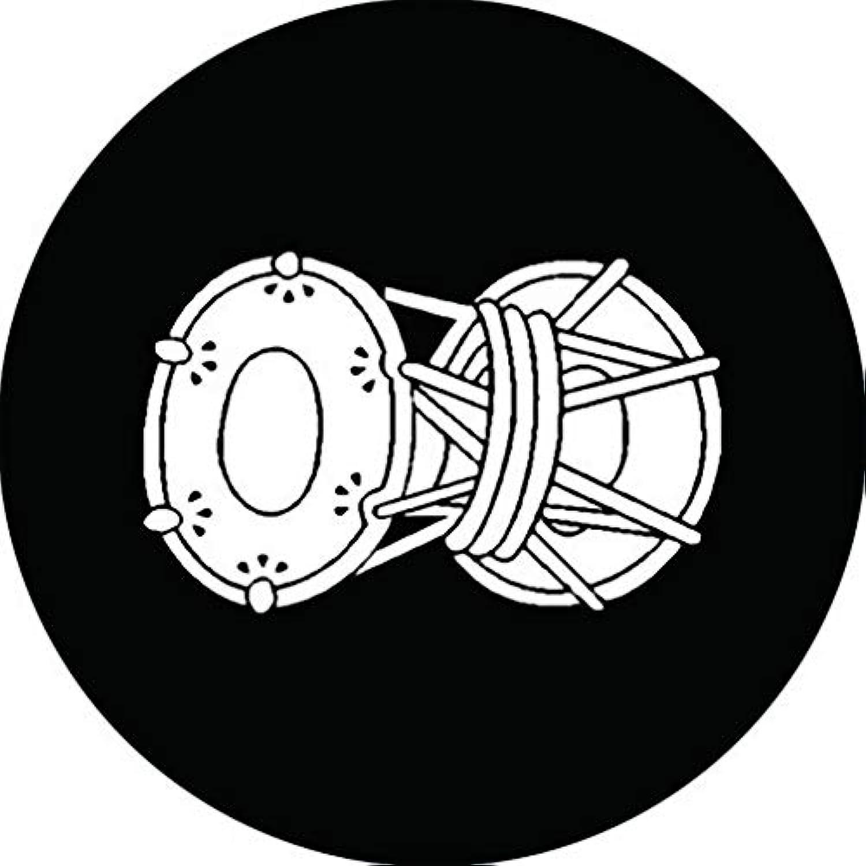 家紋シール 置鼓紋 布タイプ 直径40mm 6枚セット NS4-2215
