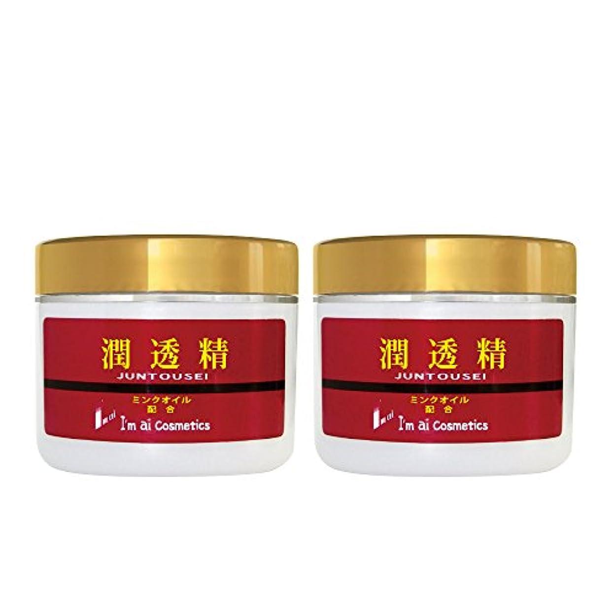 収縮事前に薬剤師【送料無料】潤透精クリーム(美容クリーム120g) 2個セット