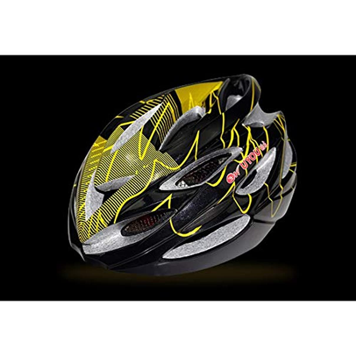 トラフコミュニティ億CAFUTY 自転車用ヘルメット、屋外用サイクリング愛好家に最適な自転車用安全ヘルメット。 (Color : Yellow black)