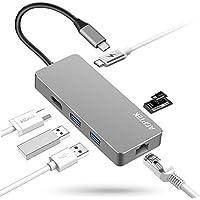 AGPTEK USB-C ハブ 多機能7-in-1 4K HDMI出力 タイプ C マルチ変換アダプター USB C アダプター USB Type-Cハブ LANポート(1000Mbps)/Tpye-C 充電ポート/4k HDMI/SD/microSDカードスロット/2*USB 3.0ポート MacBook/MacBook Pro/Samsung Chromebook Plusに対応