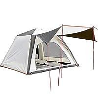 屋外キャンプ自動速度オープンテント、家族3-4人防雨抗紫外線ビーチ釣りテント