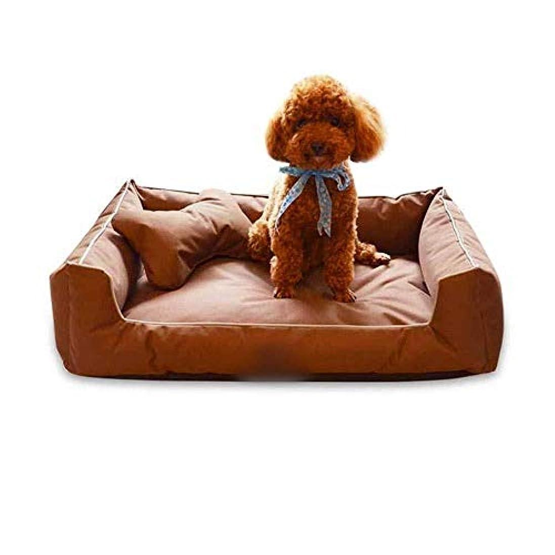 メジャーとげ曲がったJPLJL ペット ベッド 犬 猫用寝袋 取り外し可能と洗える四季犬ベッド猫ソファベッドペット巣 人気 可愛い ふわふわ 暖かい キャットハウス ネコベッド ネコ いぬ 猫寝床,ブラウン,Medium