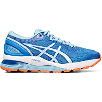 ASICS Womens Nimbus Fabric Low Top Lace Up Walking Shoes US