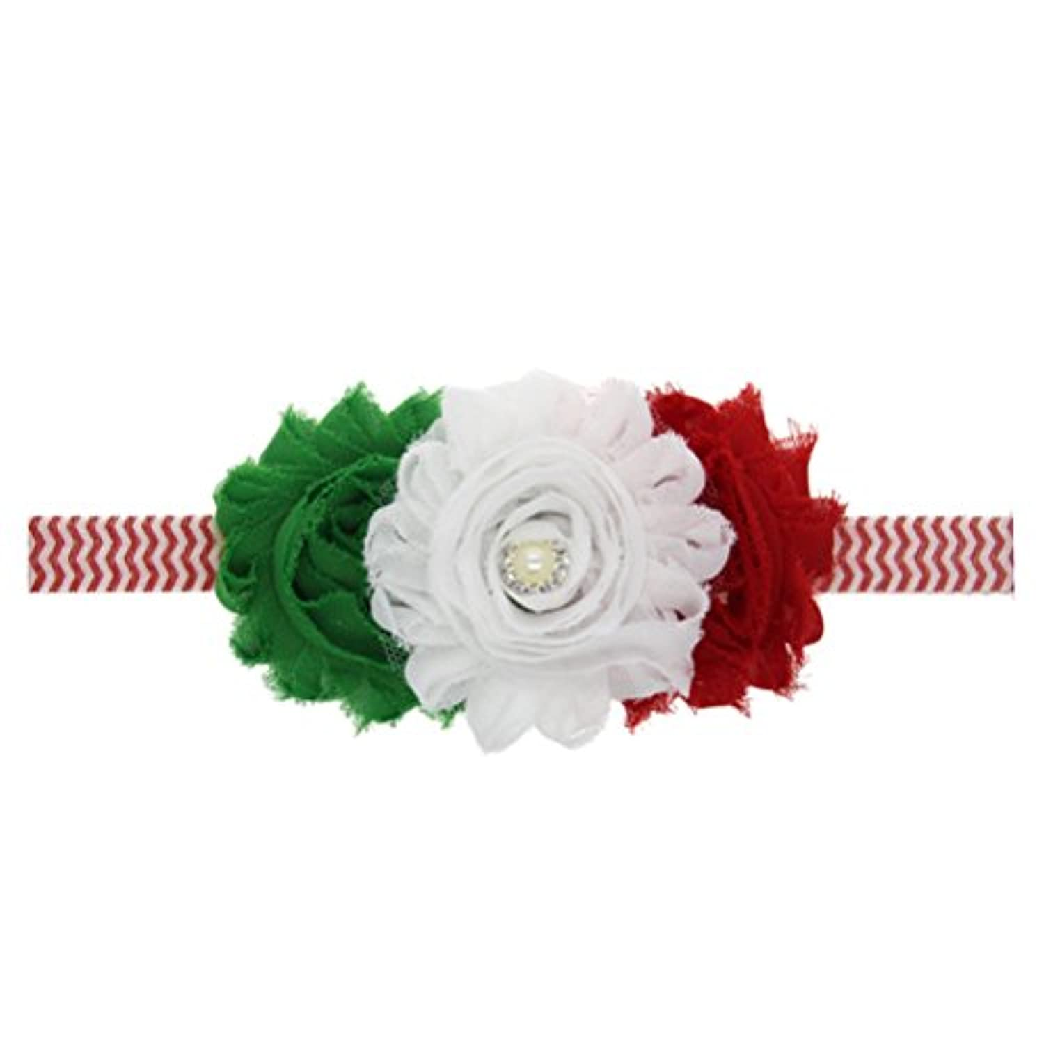 Zhhlaixing ベビー小物 Baby Girls Kids Elastic Bouquet Fowers Headband Hairband Hair Accessories for Christmas