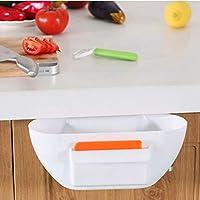 27-chuangshengnet キッチン用ゴミ箱プラスチック製ゴミ箱食器棚[ぶら下げ]ゴミ箱収納樽バスルームBedroom-D (Color : B)