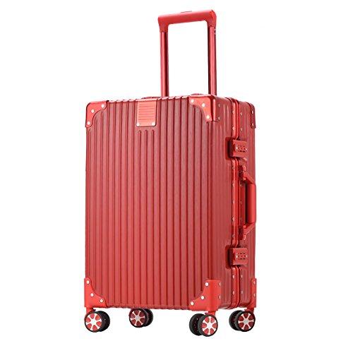 VALKASE(ビルガセ) スーツケース 軽量 出張 旅行 ゴージャス長方形 女性向け レッドS39L