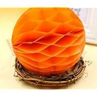 YChoice 可愛い赤ちゃんのおもちゃ ギフト ハニカムボール ティッシュペーパー ポンポン ペーパーボール デコレーション ベビーシャワー 誕生日装飾用 オレンジ