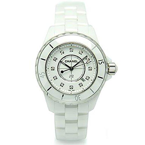 [シャネル] 時計 CHANEL 腕時計 レディース J12 H1628 33MM 12Pダイヤモンド ホワイトセラミック ウォッチシリアル有 [並行輸入品]