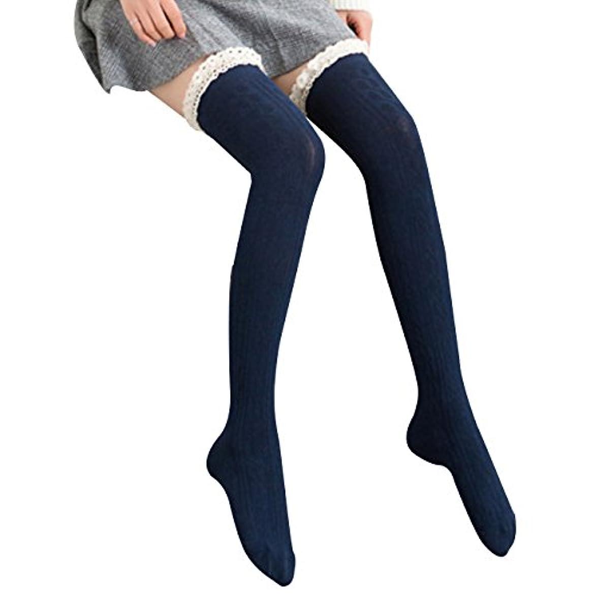 宣言改修ポインタオーバーニーソックス 美脚 着圧 スッキリ サイハイソックス ニーハイ ストッキング ロングソックス レディース 靴下 かわいい