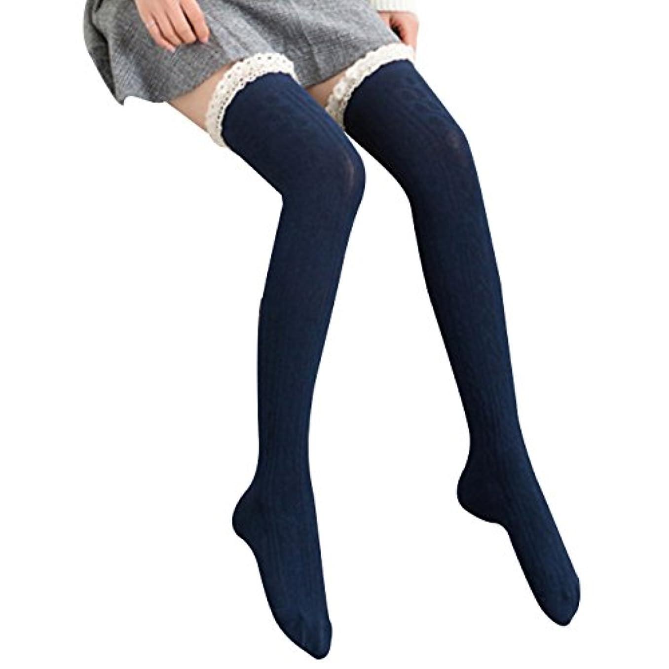 ピルファーフォロー賛美歌オーバーニーソックス 美脚 着圧 スッキリ サイハイソックス ニーハイ ストッキング ロングソックス レディース 靴下 かわいい