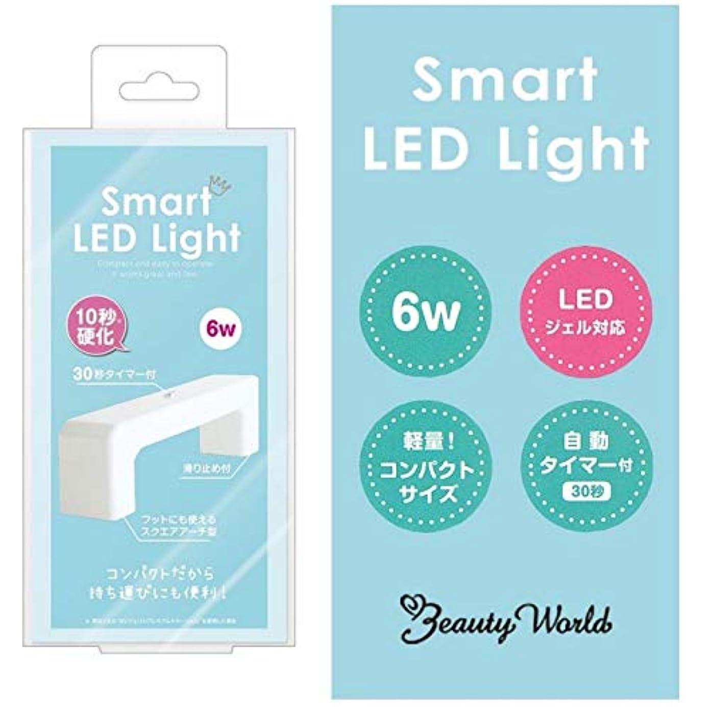 スマートLEDライト LED3801 6W チップ型 LED ライト スクエアアーチ型 自動タイマー付 ハンド フット ジェル ネイル スピーディー 硬化 コンパクト 軽量