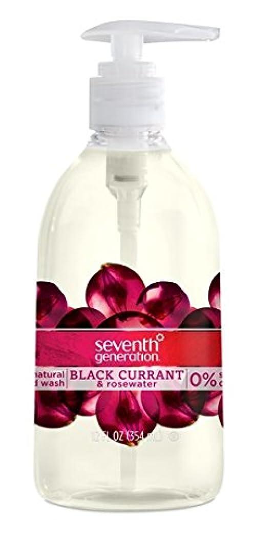 エチケット時代遅れ食欲Seventh Generation Hand Wash, Black Currant & Rosewater, 12 Ounce by Seventh Generation