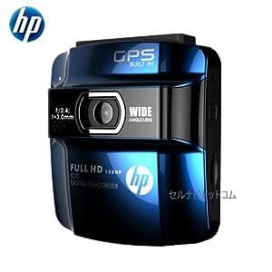 ヒューレット・パッカード f210(青) GPS搭載・高画質FULL HD 1080Pドライブレコーダー/ WDR+Gセンサー、動体感知、臨時駐車監視モード