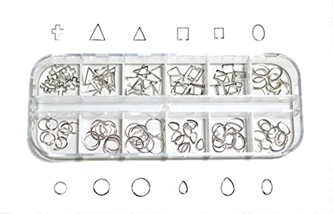 促す終点土地【jewel】 メタルフレームパーツ ゴールドorシルバー 12種類 各10個入り カラー選択可能☆ (シルバー)