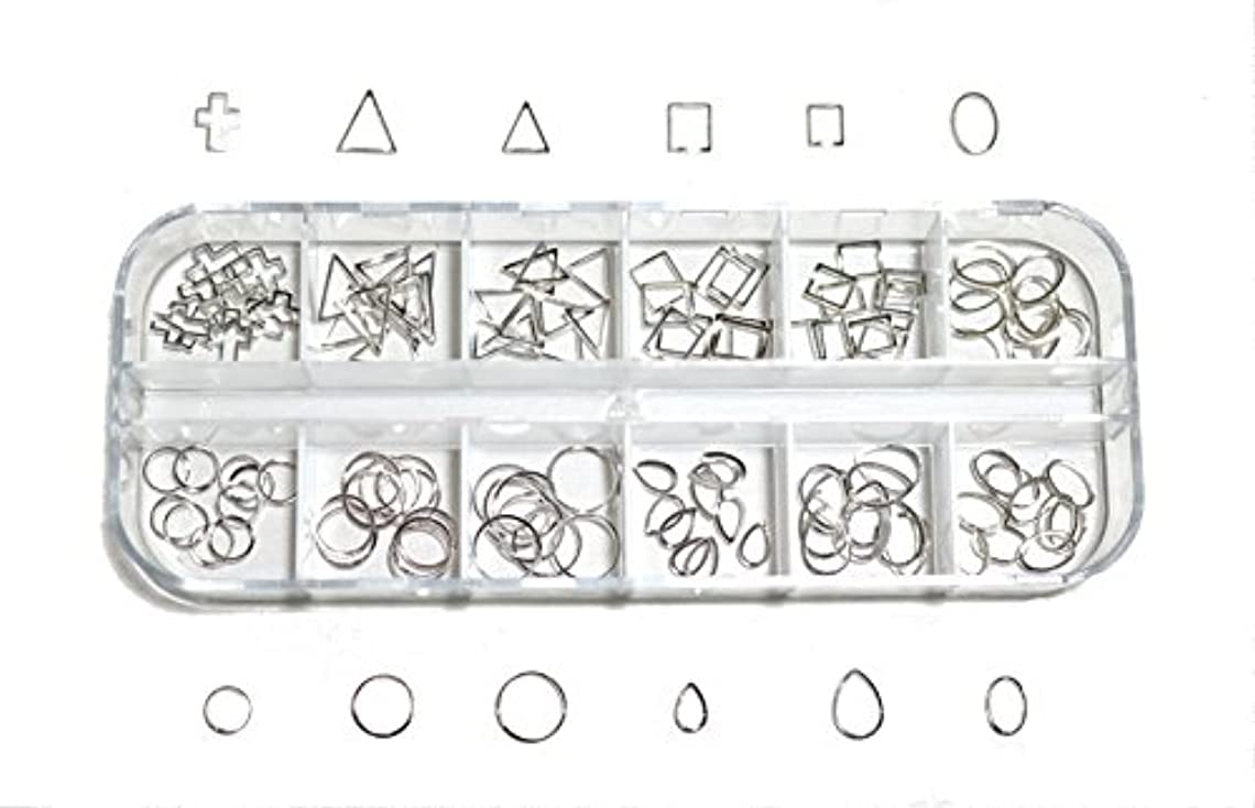 堀枕文明化【jewel】 メタルフレームパーツ ゴールドorシルバー 12種類 各10個入り カラー選択可能☆ (シルバー)