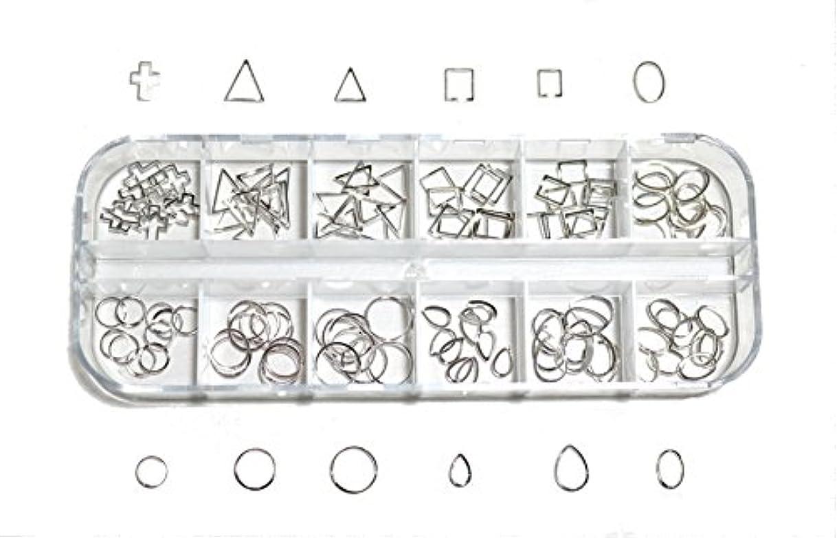子孫検索エンジンマーケティング風刺【jewel】 メタルフレームパーツ ゴールドorシルバー 12種類 各10個入り カラー選択可能☆ (シルバー)