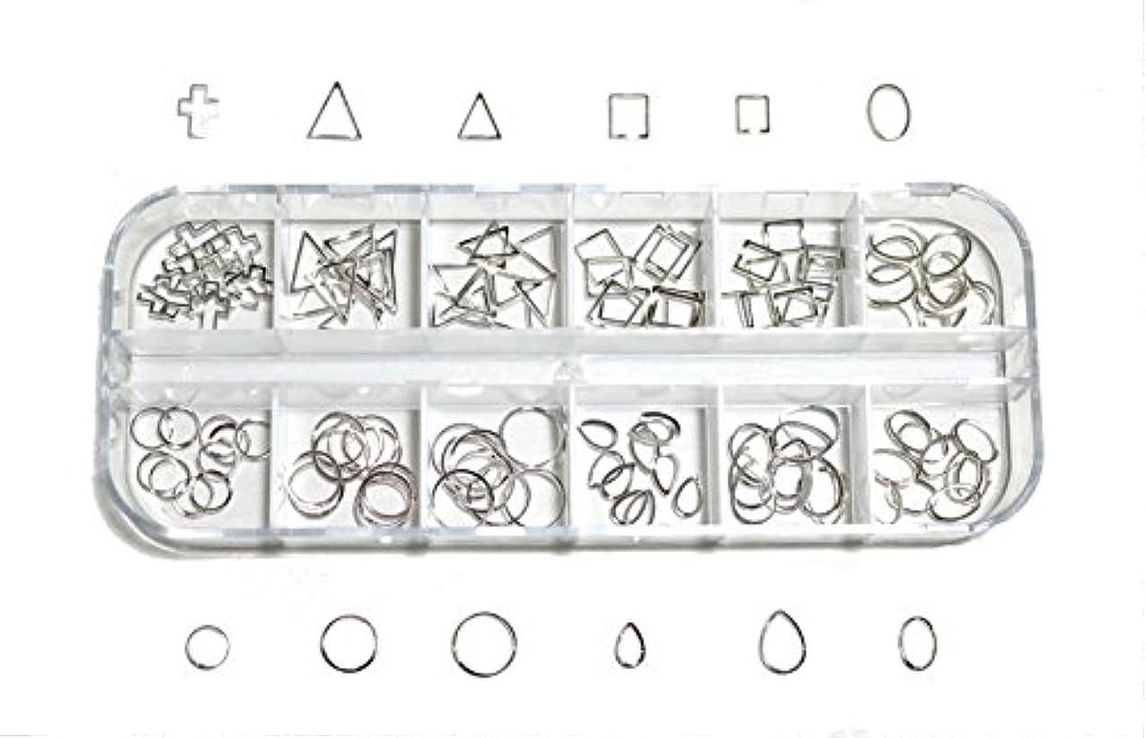 具体的に小説家あいさつ【jewel】 メタルフレームパーツ ゴールドorシルバー 12種類 各10個入り カラー選択可能☆ (シルバー)