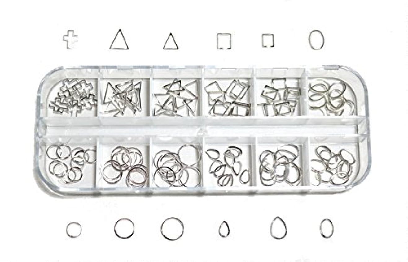ミケランジェロプロペラ登場【jewel】 メタルフレームパーツ ゴールドorシルバー 12種類 各10個入り カラー選択可能☆ (シルバー)