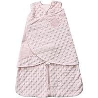 HALO SleepSack Plush Dot Velboa Swaddle, Pink, Newborn by Halo