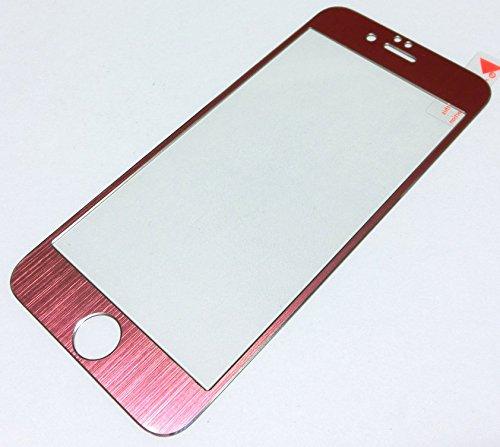 iPhone6/6s/7 合金フレームガラスフィルム(ローズゴールド)...