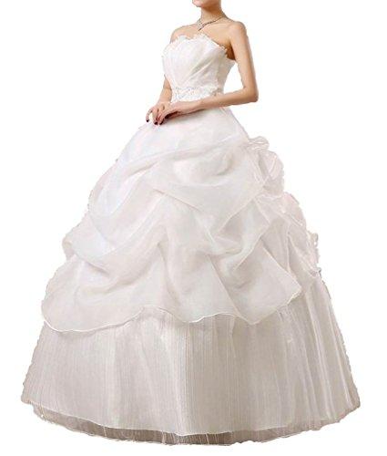 (アンダブル) AnW ウェディング ドレス 二次会 プリンセス ビスチェ 肩 出し ウエディング 結婚式 (3.L)
