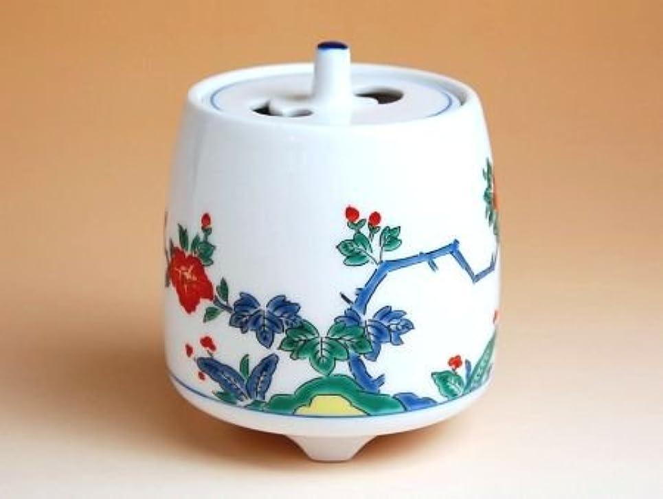 密接に血色の良いハンカチ有田焼 牡丹 ミニ香炉(木箱付)【サイズ】高さ8cm