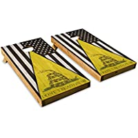 Dont Tread On Meブラックアメリカ国旗 – Cornholeクルー – ACA Regulation Size Cornholeボードセット