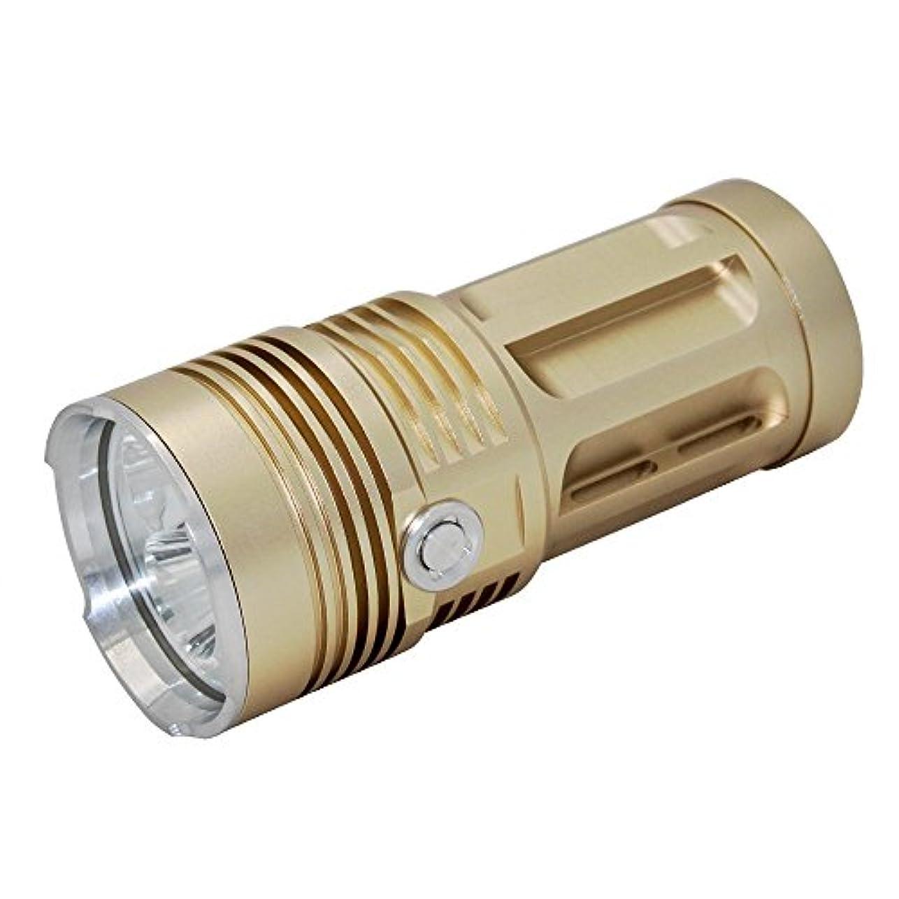 超越する出来事再集計KC Fire ハンデイィライト CREE XML-T6 3000LM照明 3/8LED懐中電灯 ゴールド ブラック