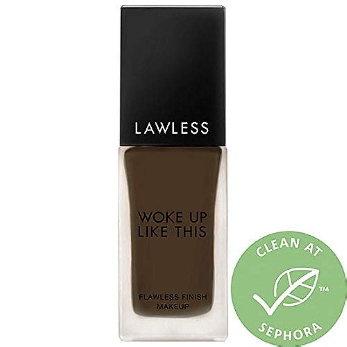 多分突き出す依存LAWLESS Woke Up Like This Flawless Finish Foundation (Obsidian)