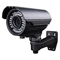 Amview 1000TVL 2.8-12mm Varifocal Outdoor Bullet 42pcs IR LED CCTV Camera [並行輸入品]