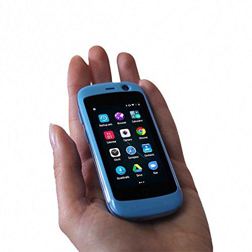 Unihertz Jelly Pro, 世界最小の4Gスマートフォン, 2GBのRAM と 16GBのROM を搭載したAndroid 7.0 Nougat ロック解除された, 青