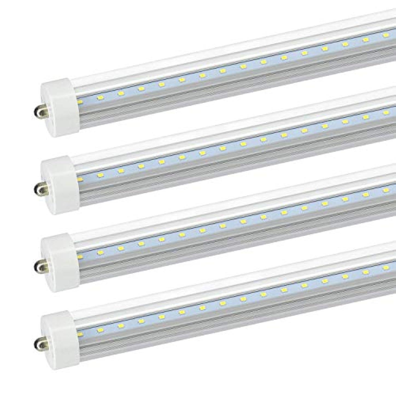 セッション喜んで補償JESLED 8Ft LED 電球 - 36W (75W エクイバレント) デュアル エンド 電源 バラスト バイパス 5000K デイライト クリア カバー 3960ルーメン T8 T10 T10 2 蛍光 チューブ 交換 4 パック クリア カバー