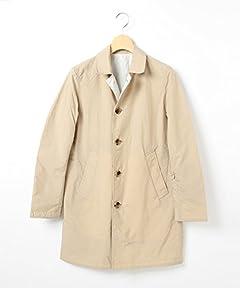 Reversible Balmacaan Coat 51-19-0103-012: Beige / Light Grey