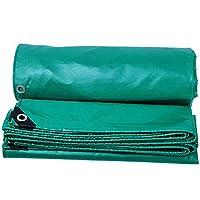 ANUO 防水ターポリン トラックターポリンキャンバスアウトドア肥厚サンシェード雨布日焼け止め防水シェルターオーニング断熱 防雨布 (Color : Green, Size : 6.6x9.9ft/2x3m)