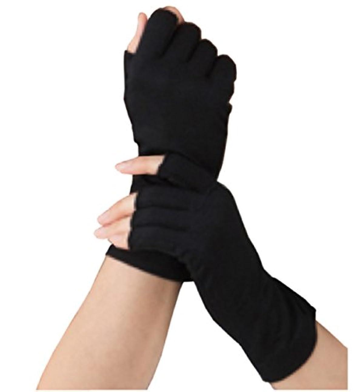 叙情的な最初に流体Silk 100% シルク 手袋 指先カット タイプ 薄手 オールシーズンOK 外出時の 紫外線 UV 対策 スマホ PC 操作 や ICカード 取り出しもらくらく! 手首 ゆったり おやすみ フィンガーレス スキンケア...