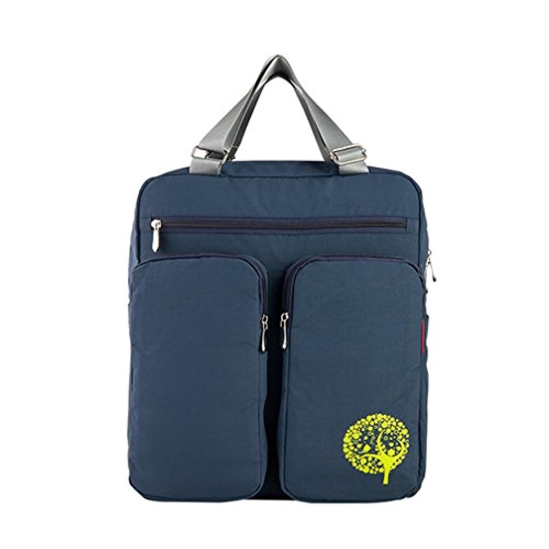 無地 マザーズバッグ トート ハンドバッグ 大容量 多機能 軽量 防水 肩掛け 手提げ 3way 綿 男女兼用 保育園 ベビーカー用 青 ベージュ