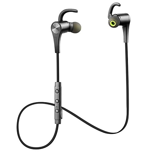 SoundPEATS Bluetooth イヤホン 高音質 apt-Xコーデック採用 防汗防滴 スポーツ仕様 外れにくい Bluetooth ヘッドホン ハンズフリー通話 CVC6.0ノイズキャンセリング ワイヤレス イヤホン [メーカー直販/1年保証付] Q12 ブラック