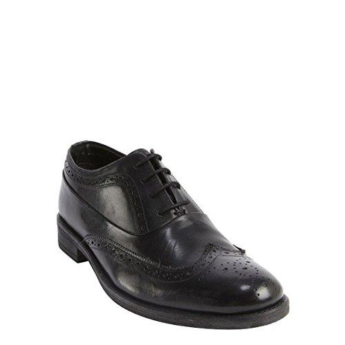 (ベンシャーマン) Ben Sherman メンズ シューズ・靴 オックスフォード black leather tooled wingtip 'Rowan' oxfords 並行輸入品