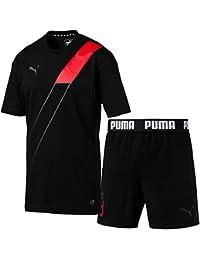 プーマ(PUMA) 365 TEE&ショーツ 上下セット(ブラックキャスターグレー/ブラック) 655815-01-655814-01