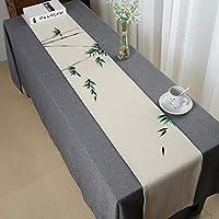 テーブルランナー中国古典的なパターンの手描き綿とリネンブレンドテーブルランナーコーヒーテーブルランナー居間キッチン贅沢な装飾,A_30*150CM