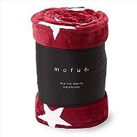 mofua(モフア) 毛布 ダブル オールシーズン快適 エアコン対策 マイクロファイバー 1年間品質保証 洗える 180×200cm 星柄 ワインレッド 500003R9