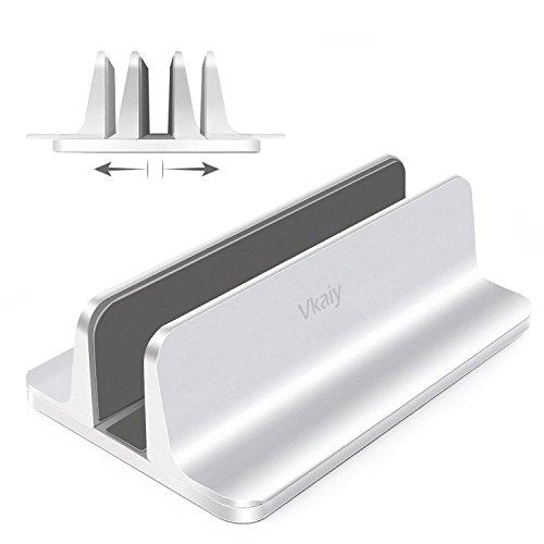 ノートパソコンスタンド Vkaiy パソコンホルダー ノートPCスタンド 縦置き 収納 アルミ MacBook/iPad/laptop/タブレット適用 シルバー (ノートパソコンスタンド)