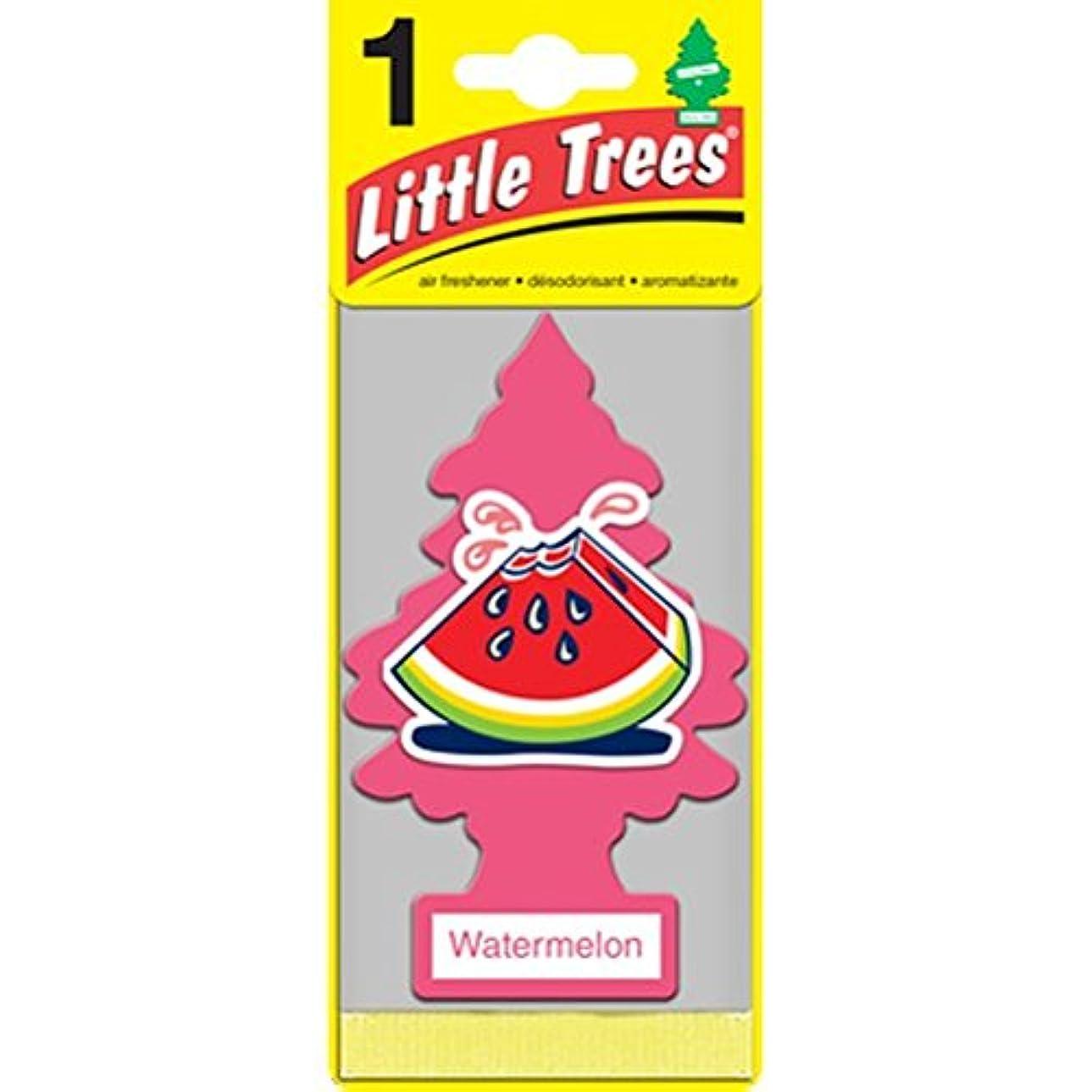 名詞テクトニック事Little Trees Watermelon 吊り下げタイプ air freshener 3-paks(3枚入り)