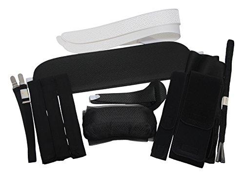 【和装】喪服用 着付け小物13点セット (帯枕、前板、衿芯2本、着物ベルト、腰紐3本、伊達締めベルト、腰紐ベルト、帯揚げ、帯締め、止金)