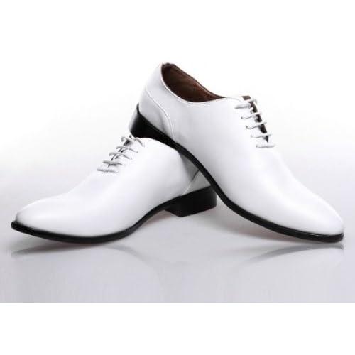 メンズ革靴 ビジネスシューズ PUレザーシューズ sybx312-nspx07(ホワイト/25.5)