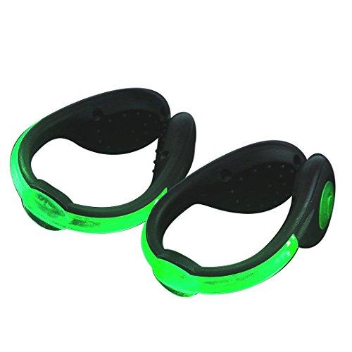 [해외]야간 러닝 라이트 USB 충전식 2 개 세트 오래 슈즈 클립 라이트 LED 빨강 파랑 녹색 조깅 라이트 안전 등 사고 방지/Nighttime running light USB rechargeable 2 piece set lasting shoes clip light LED red blue green jogging light safety ligh...