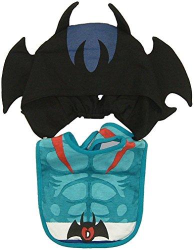デビルマン フード付きスタイ よだれかけ 不動明 ハロウィン衣装 出産祝い なりきり コスプレ 小悪魔