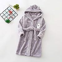 Autumn Winter Children Sleepwear Robe Flannel Hooded Warm Bathrobe Kids Pajamas for Boys & Girls Lovely Cartoon Animals Robes 