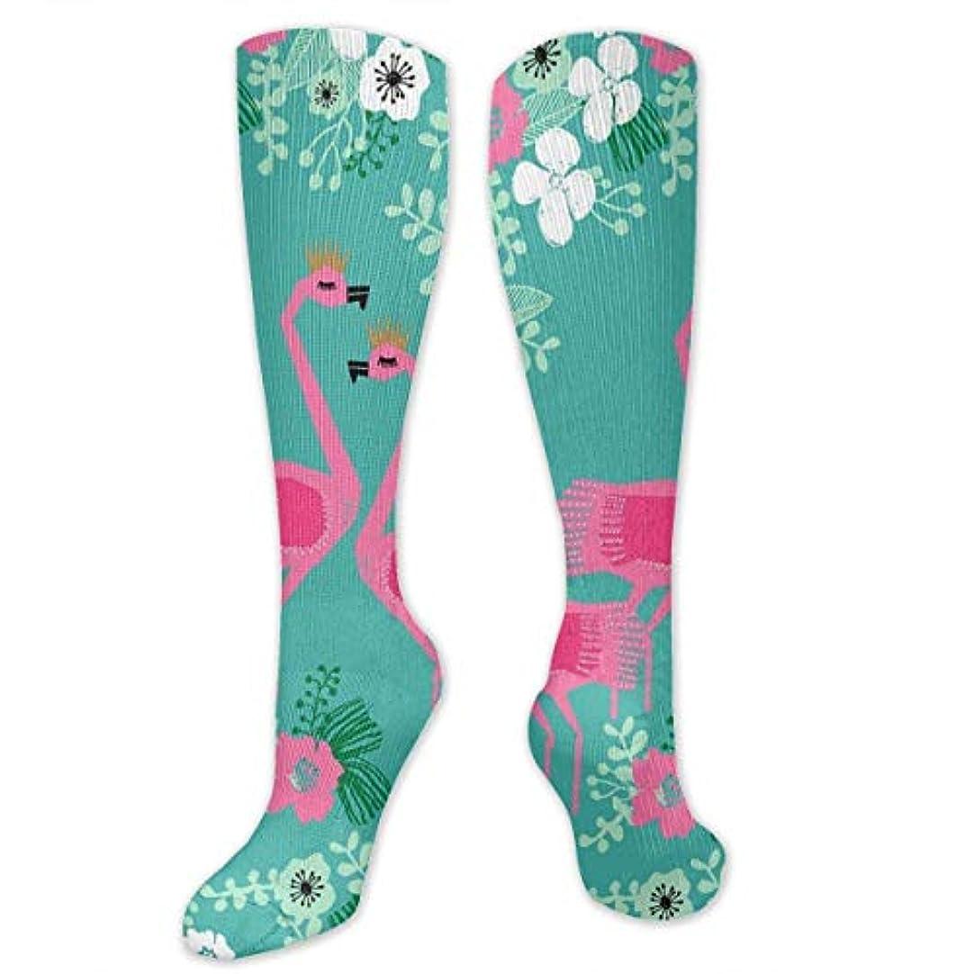 謙虚クラフト湿地靴下,ストッキング,野生のジョーカー,実際,秋の本質,冬必須,サマーウェア&RBXAA Tropical Flamingo Florals Socks Women's Winter Cotton Long Tube Socks...